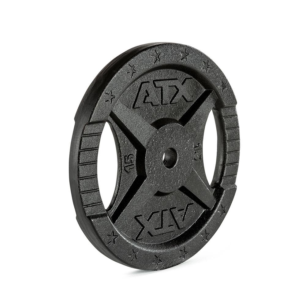 Hantelscheibe ATX® - 2 Grip - Guss 30 mm - 15 kg 30-GXA-1500