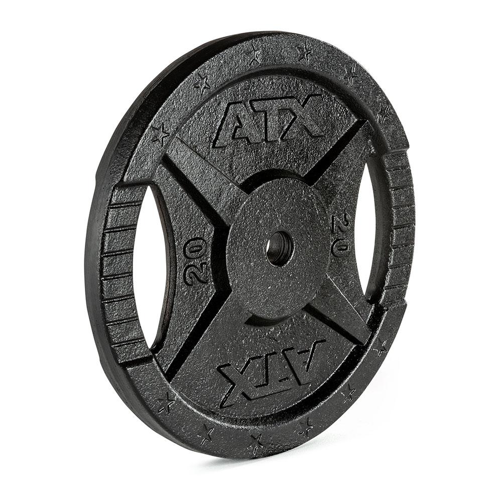 Hantelscheibe ATX® - 2 Grip - Guss 30 mm - 20 kg 30-GXA-2000