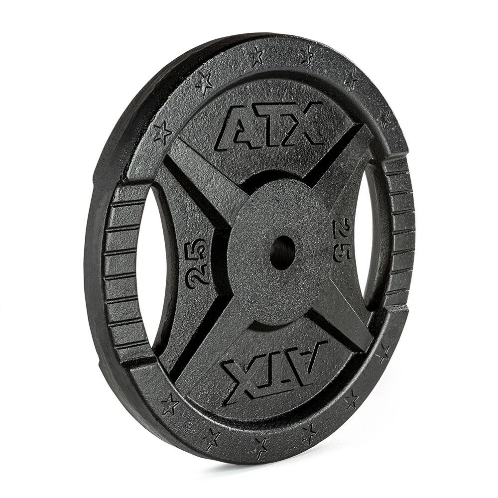 Hantelscheibe ATX® - 2 Grip - Guss 30 mm - 25 kg 30-GXA-2500