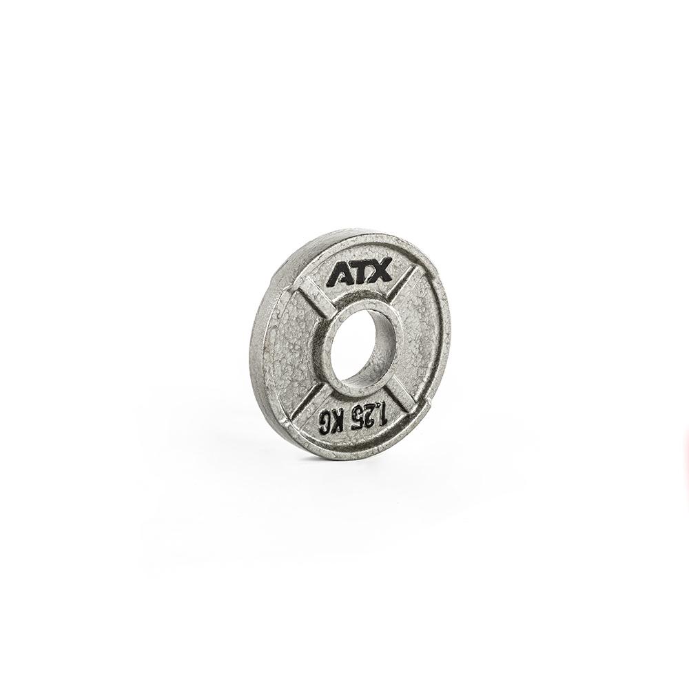 ATX® XT Iron Plate - 1,25 KG - Guss Hantelscheibe mit Hammerschlageffekt 50-ATX-XT-0125