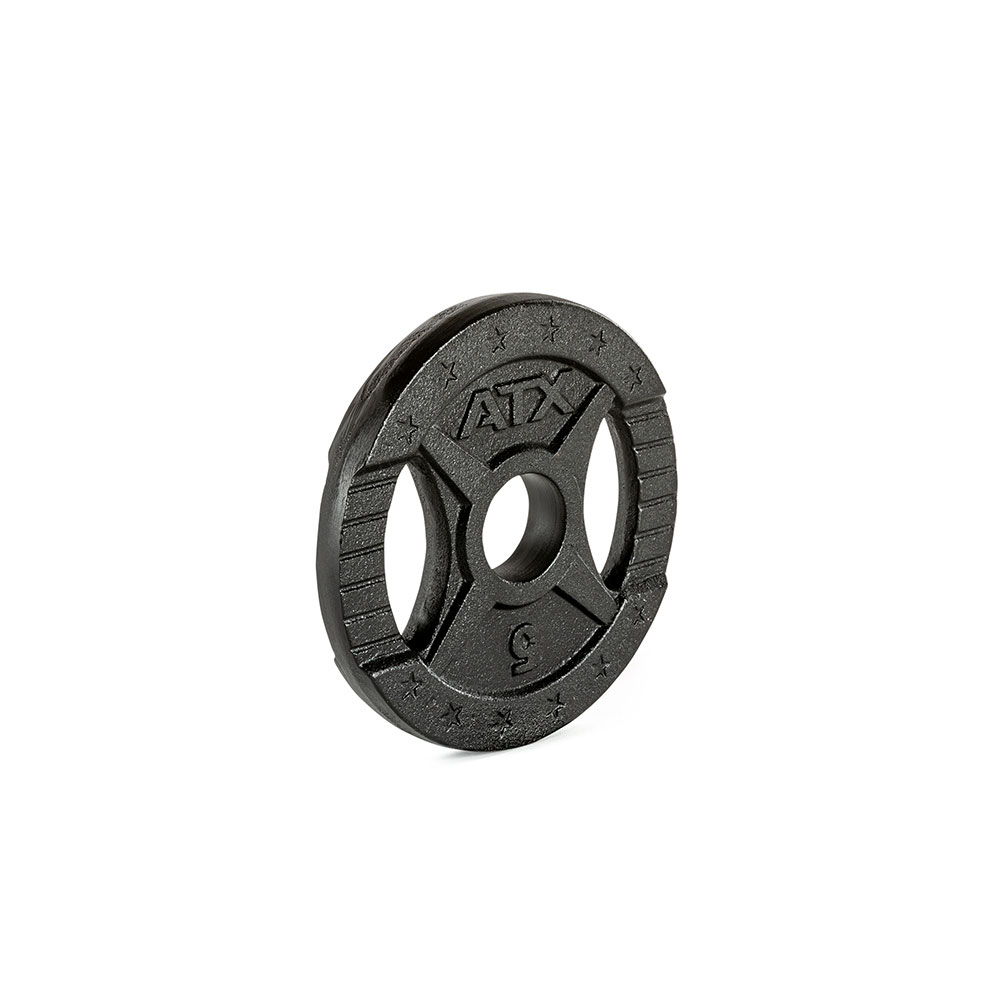 Hantelscheibe ATX® - 2 Grip - Guss 50 mm - 0,5 kg 50-GXA-0050