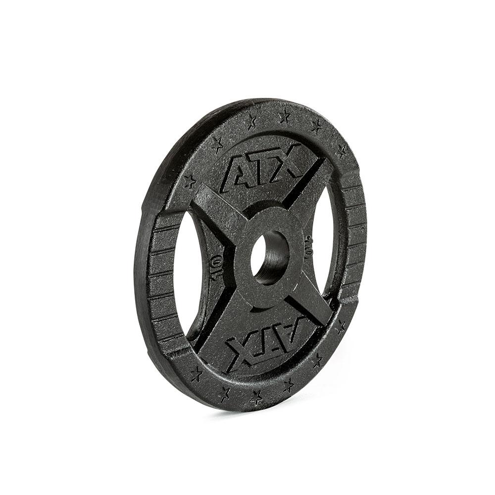 Hantelscheibe ATX® - 2 Grip - Guss 50 mm - 10 kg 50-GXA-1000