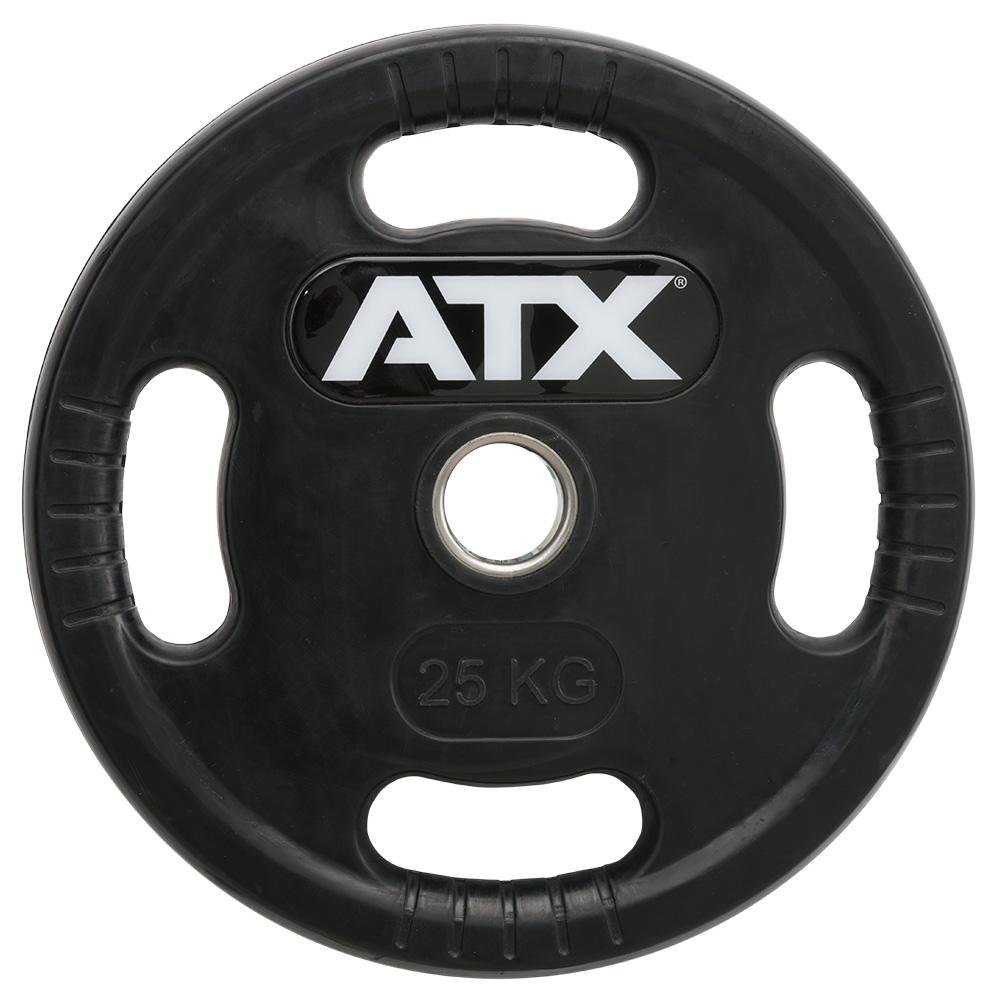 ATX® Logo-Gripper - gummierte Hantelscheiben - 50 mm - 25,0 kg 50-LG-ATX-2500