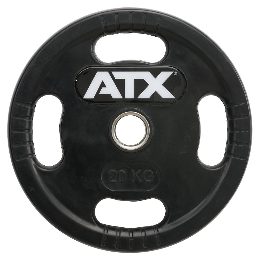 ATX® Logo-Gripper - gummierte Hantelscheiben - 50 mm - 20,0 kg 50-LG-ATX-2000