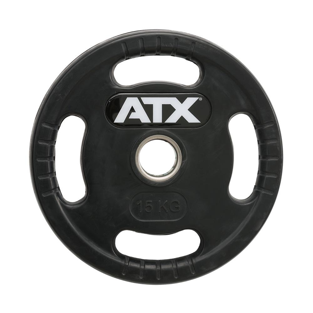ATX® Logo-Gripper - gummierte Hantelscheiben - 50 mm - 15,0 kg 50-LG-ATX-1500