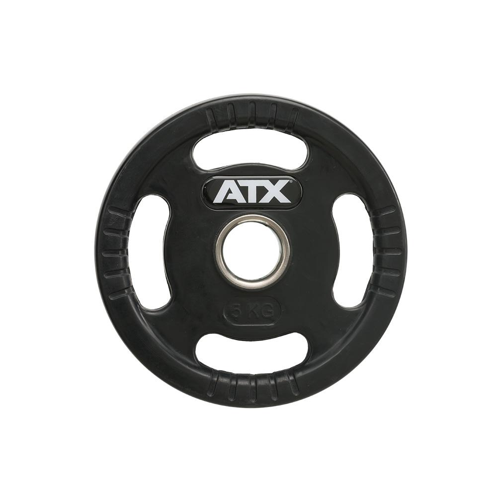 ATX® Logo-Gripper - gummierte Hantelscheiben - 50 mm - 5,0 kg 50-LG-ATX-0500