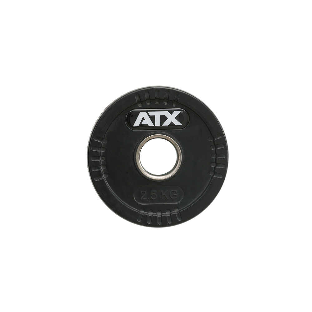 ATX® Logo-Gripper - gummierte Hantelscheiben - 50 mm - 2,5 kg 50-LG-ATX-0250
