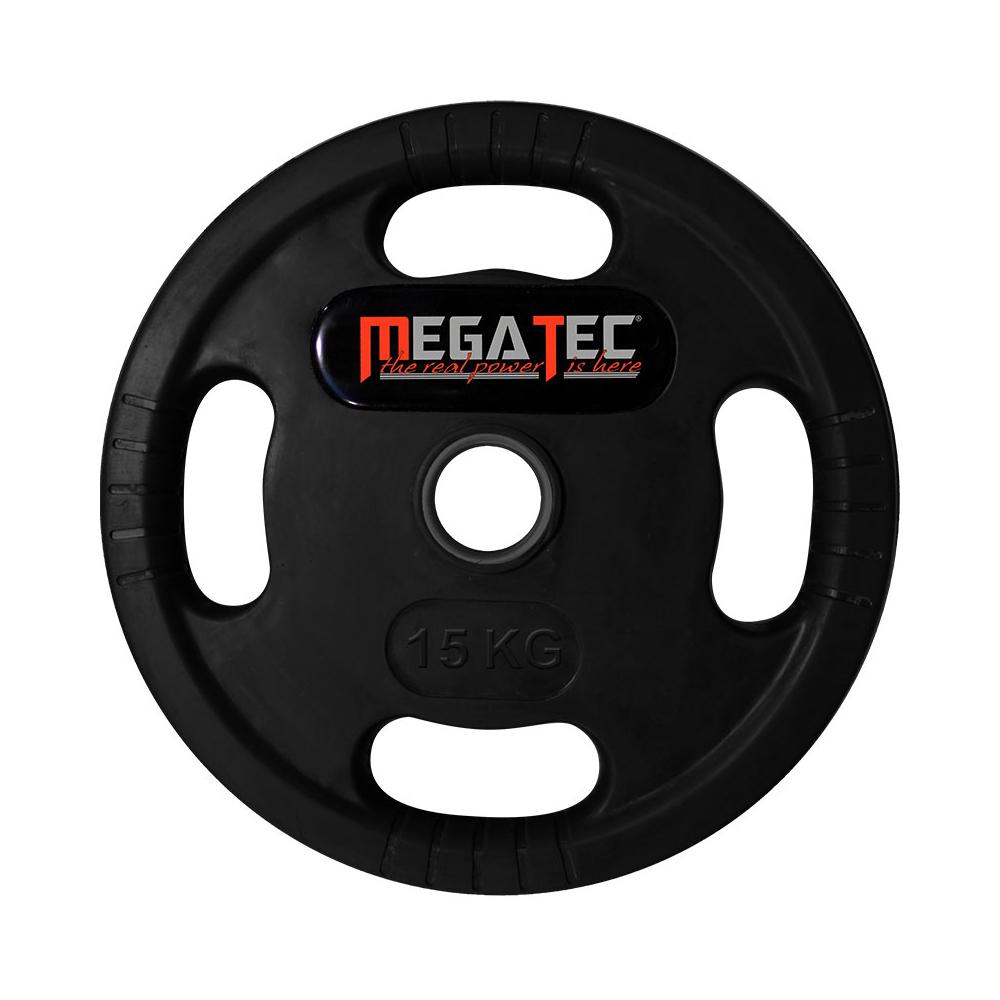 MegaTec® Logo-Gripper - gummierte Hantelscheiben - 50 mm - 15,0 kg 50-LG-MT-1500