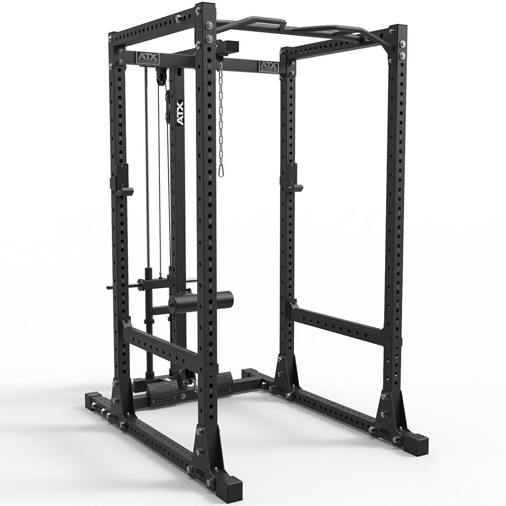 ATX® Power Rack PRX- 770 SE-450 XL Cage mit Plate Load Latzug ATX-PRX-770-SET-450