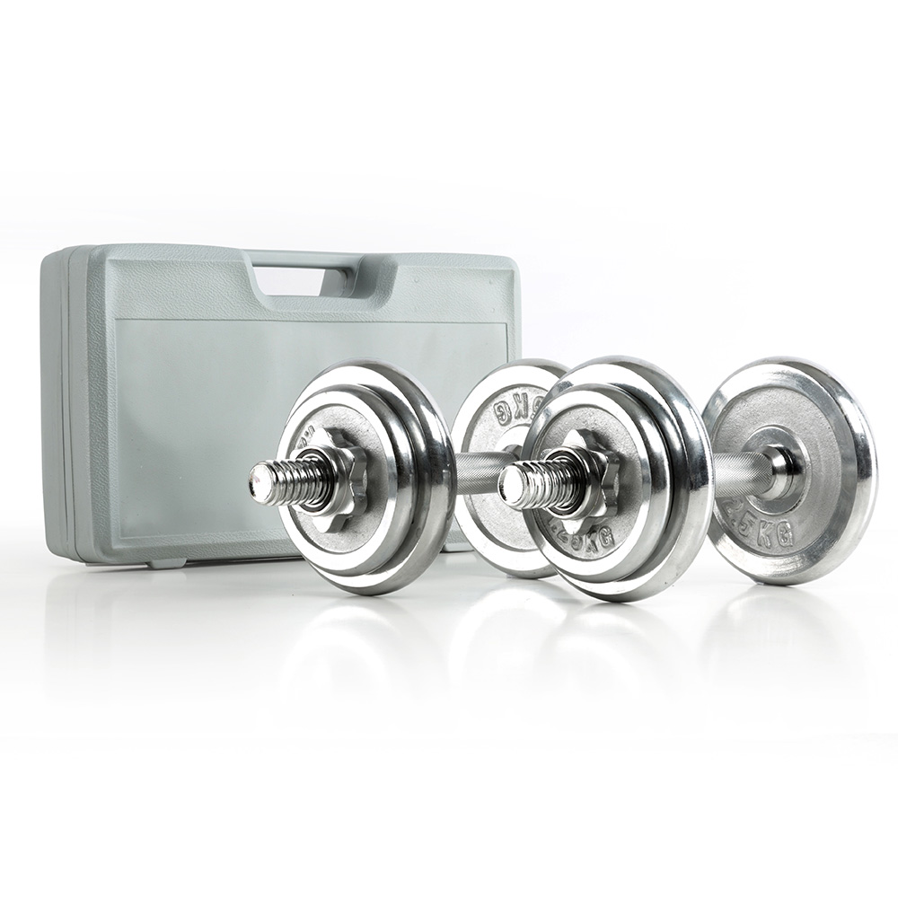 Megafitness Shop Chrom Kurzhantel-Set 2 x 10 kg
