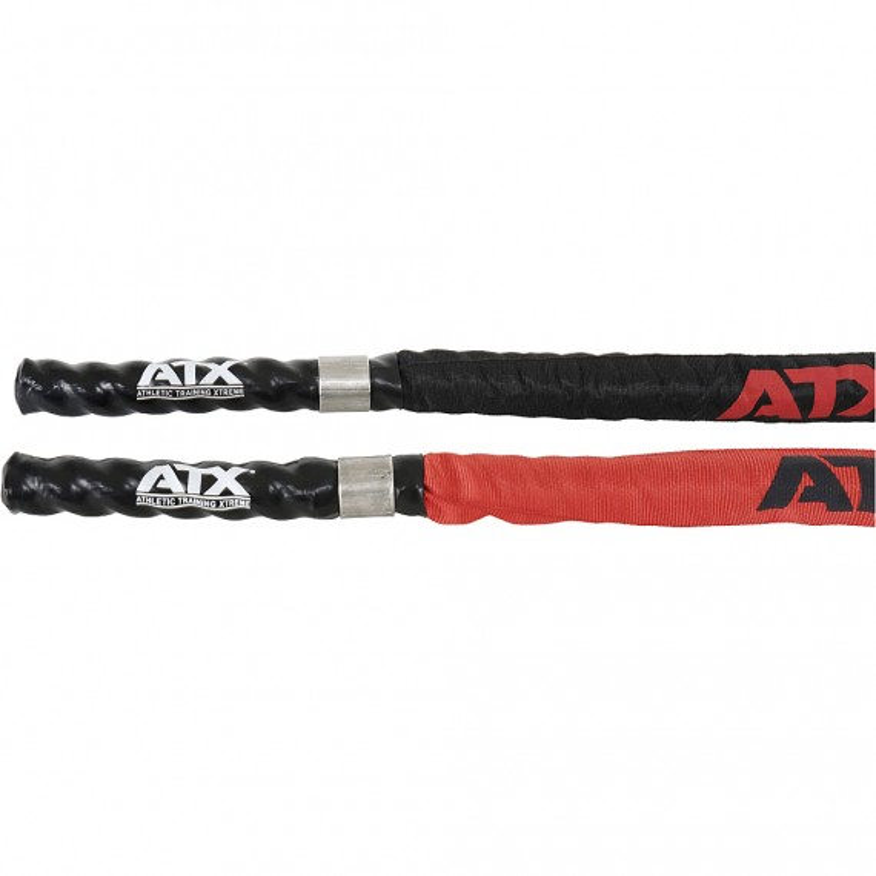 ATX Nylon Protection Rope / Tau - Vergleichsbild mit schwarzem und rotem Tau