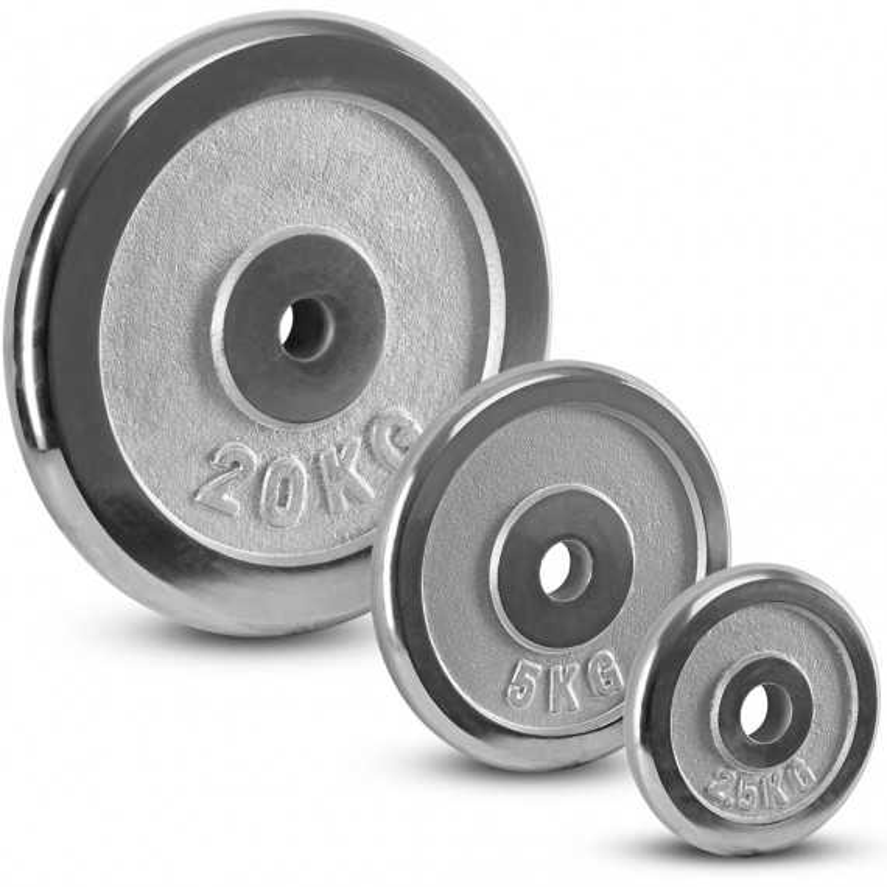 Hantelscheiben Chrom - 30 mm