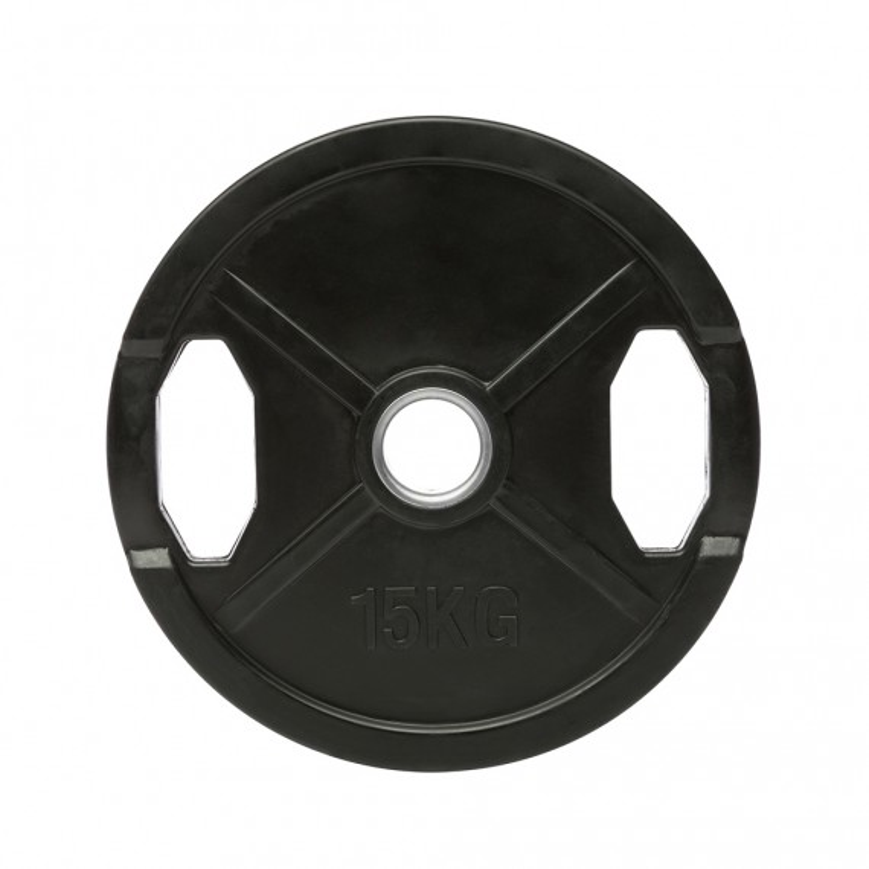 Hantelscheiben Gummi-Gripper - 50 mm - schwarz - 15 kg