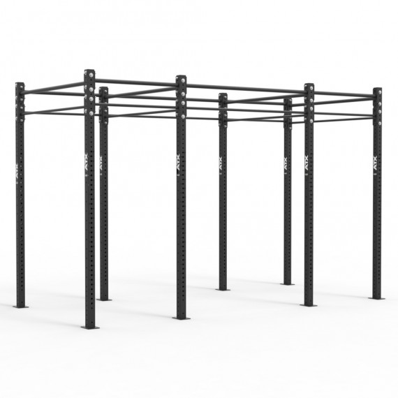 ATX Free Stand RIG Standard, 3-Feld System, 4 Rack Stations, 10 Pull-Up Stations, schwarz