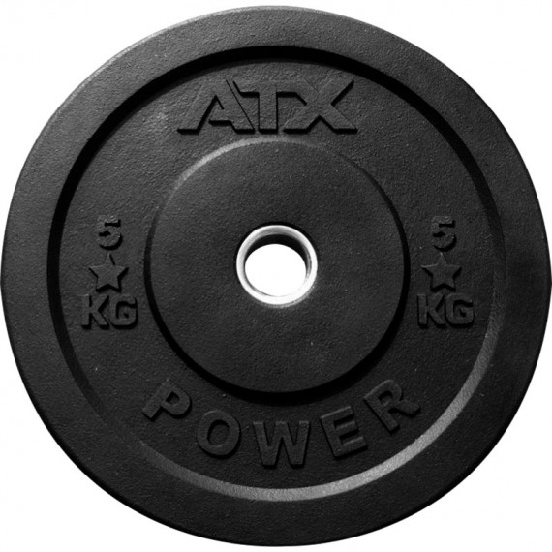 ATX Rough Rubber Bumper Plate schwarz 5 kg