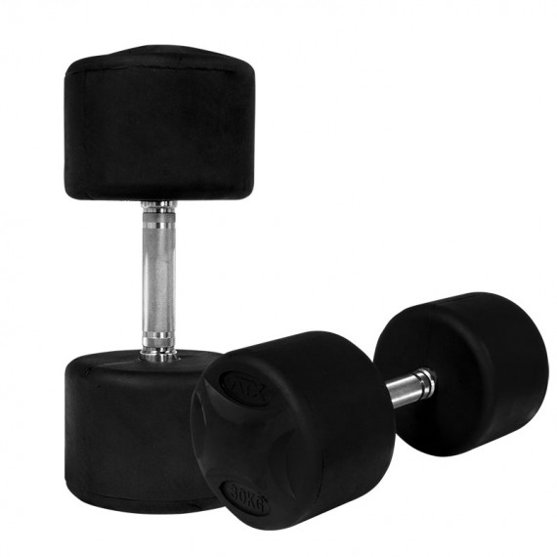 ATX Rubber Bumper Dumbbells schwarz - 30 kg