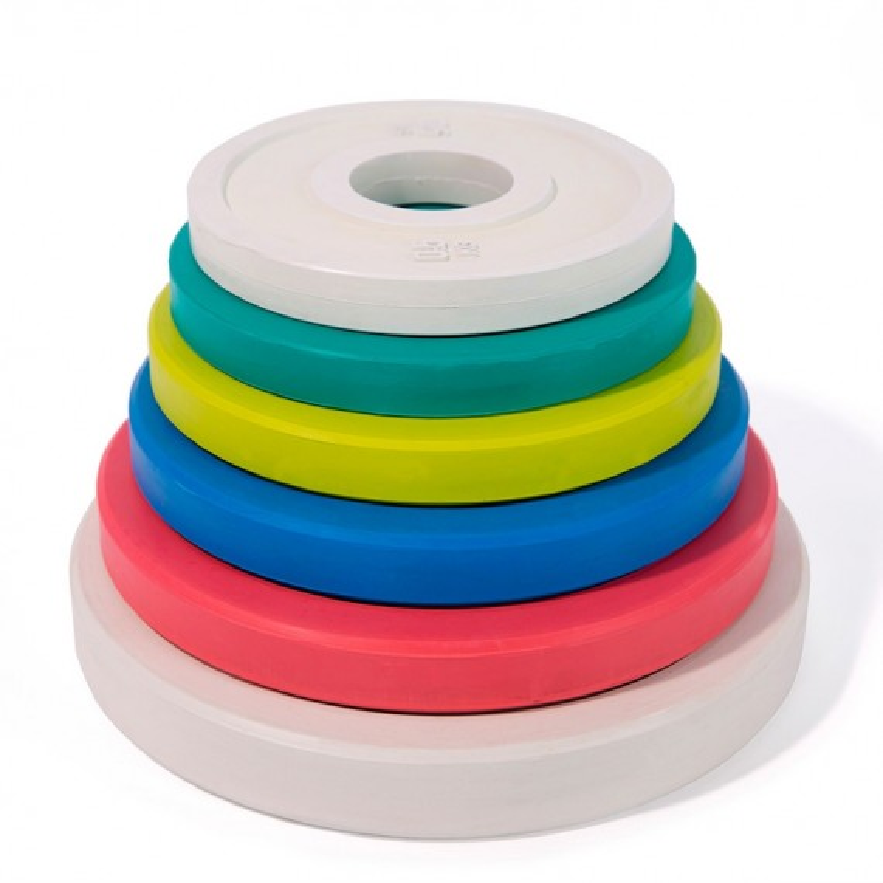 Fractional Rubber Plates bunt - gestapelt