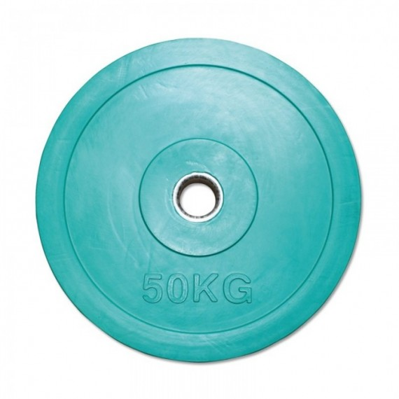 Hantelscheibe Gummi - 50 mm - grün - 50 kg