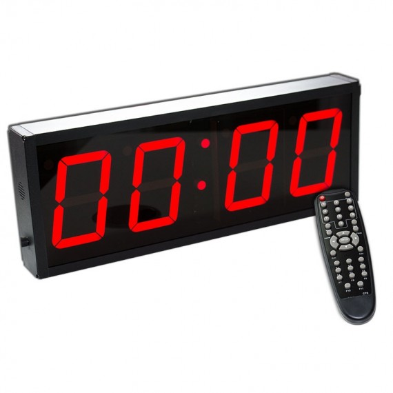 Digitaler Timer - 4-stellige Anzeige - hochwertiges Aluminium Gehäuse - inkl. Fernbedienung