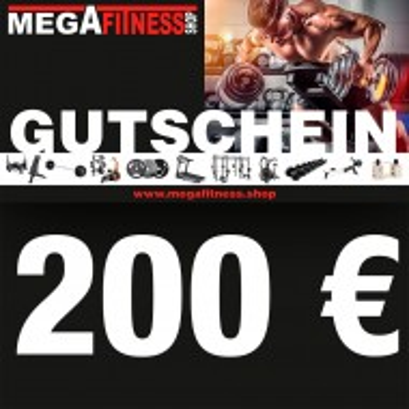 Geschenkgutschein über 200 € vom Megafitness.Shop