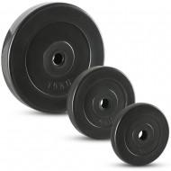 PE-Hantelscheiben - schwarz - 30 mm