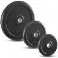 Hantelscheiben - Gummi - 30 mm - schwarz