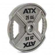 ATX® XT-Iron Plate - Hantelscheibe mit Hammerschlageffekt - 25 KG (Hantelscheiben)