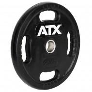 ATX® Logo-Gripper - gummierte Hantelscheibe - 50 mm - 25 kg