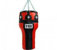 TUF WEAR Boxsack Uppercut Leder in rot/schwarz