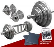 Chrom - Mega Bizeps-Trizeps-Set - 78 kg