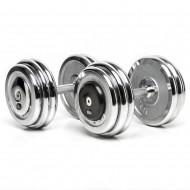 CHD® - Kompakthantelpaare aus Chrom - 30 kg in 1 kg Steigung