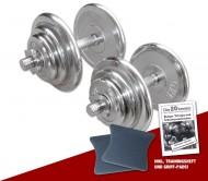 Chrom Kurzhantel-Set 2 x 20 kg
