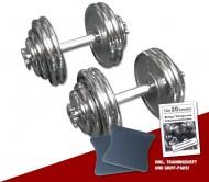 Chrom Kurzhantel-Set 2 x 30 kg