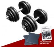 Gummi Kurzhantel-Set 2 x 30 kg