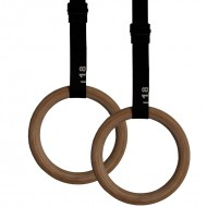 Gym Rings aus Holz inklusive Straps