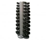 Hex-Kompakt-Hantelsatz aus Gummi von 1 - 10 kg