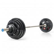 Vorteilspaket Heavy Duty - Langhantelsatz 127,5 kg (Kompakthanteln)