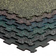 Gymfloor® Bodenbelag Puzzleplatte 956 x 956 x 8 mm - schwarz oder mit farbigen Granulaten