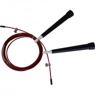 Springseil 300 cm - Speed Rope - schwarz/rot