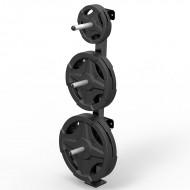 Wandhalter für Hantelscheiben - Plate Tree - Wall 30 mm - Darstellung mit Gewichten