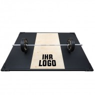 Weight Lifting Platform mit Shock Absorption-System und individuellem Logo - Frontansicht