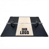 Weight Lifting Platform mit Shock Absorption-System und individuellem Logo - Frontansicht