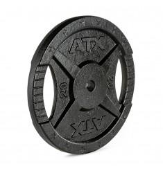 Hantelscheibe ATX® - 2 Grip - Guss 30 mm - 20 kg
