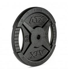 Hantelscheibe ATX® - 2 Grip - Guss 30 mm - 25 kg