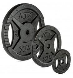 ATX® 2-Grip - 30 mm - Hantelscheiben Guss - 0,5 bis 25 kg (Hantelscheiben)