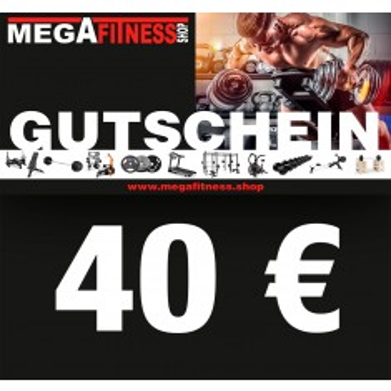 Geschenkgutschein über 40 € vom Megafitness.Shop