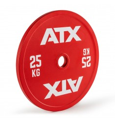 ATX® red Calibrated Steel Plate / rote kalibrierte Hantelscheibe - 25 kg