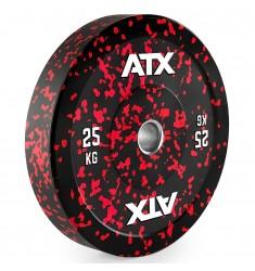 ATX® Color splash Bumper Plate - Vollgummi Hantelscheibe - 25 kg