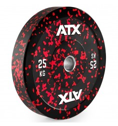 ATX® Color splash Bumper Plate - 25 kg - red (Hantelscheiben)