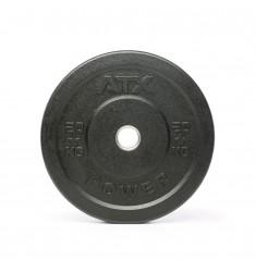 ATX® Rough Rubber Bumper Plates / Hantelscheiben schwarz 20 kg